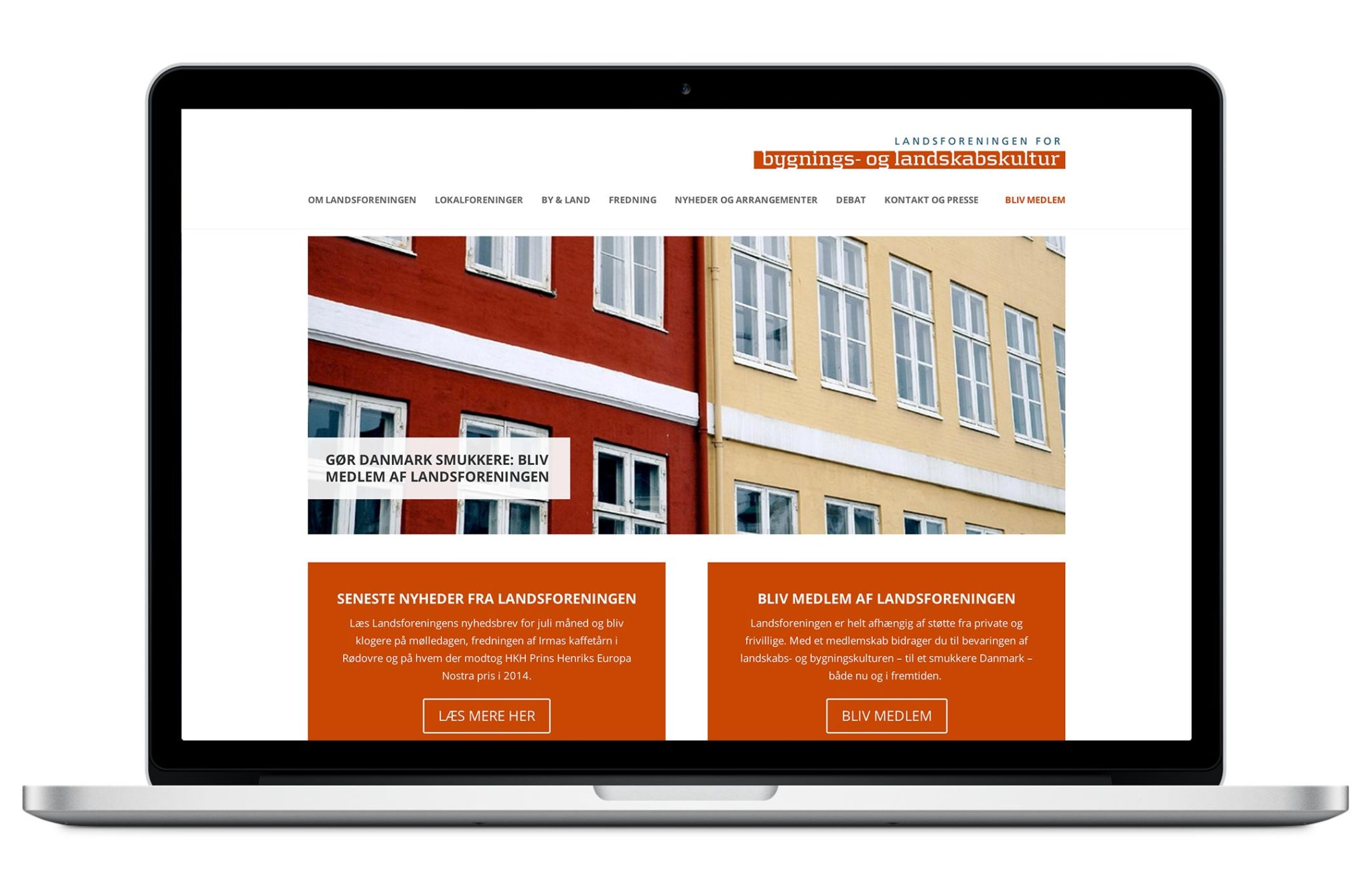 Landsforeningen for Bygnings- og Landskabskultur – website